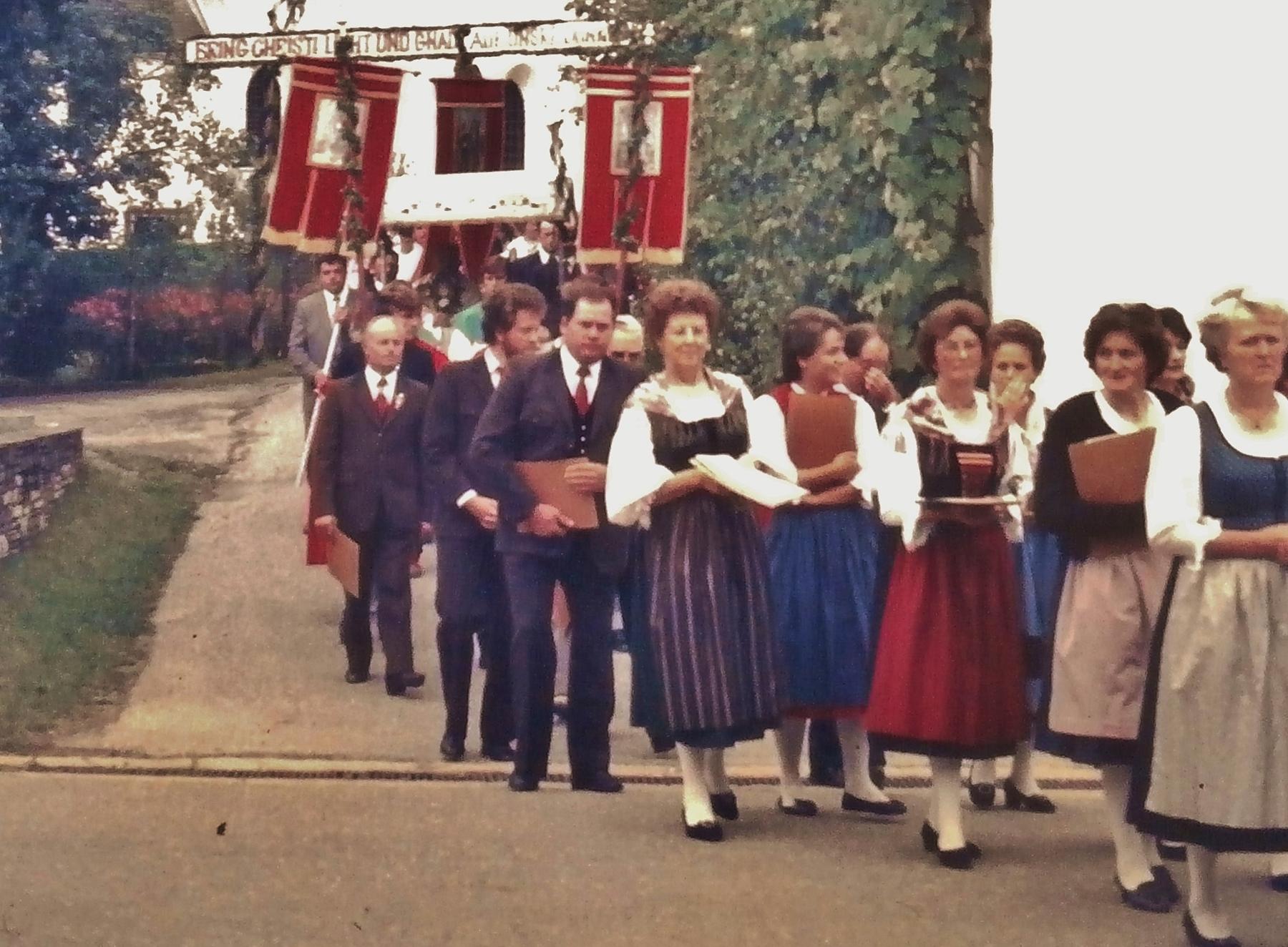 Kirchtagsprozession in Bach im Jahr 1986