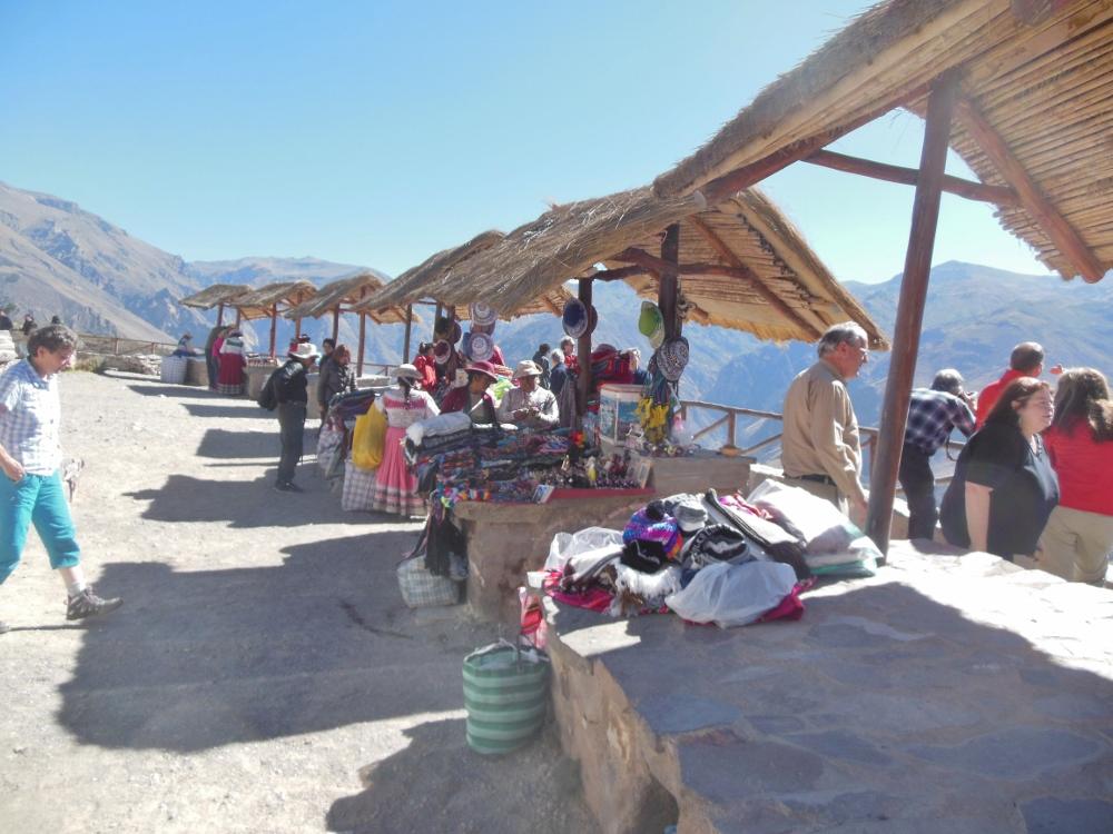 Marktstände in den Anden