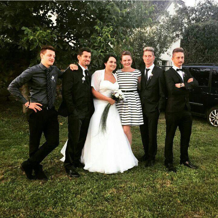 Viel Glück dem Brautpaar!