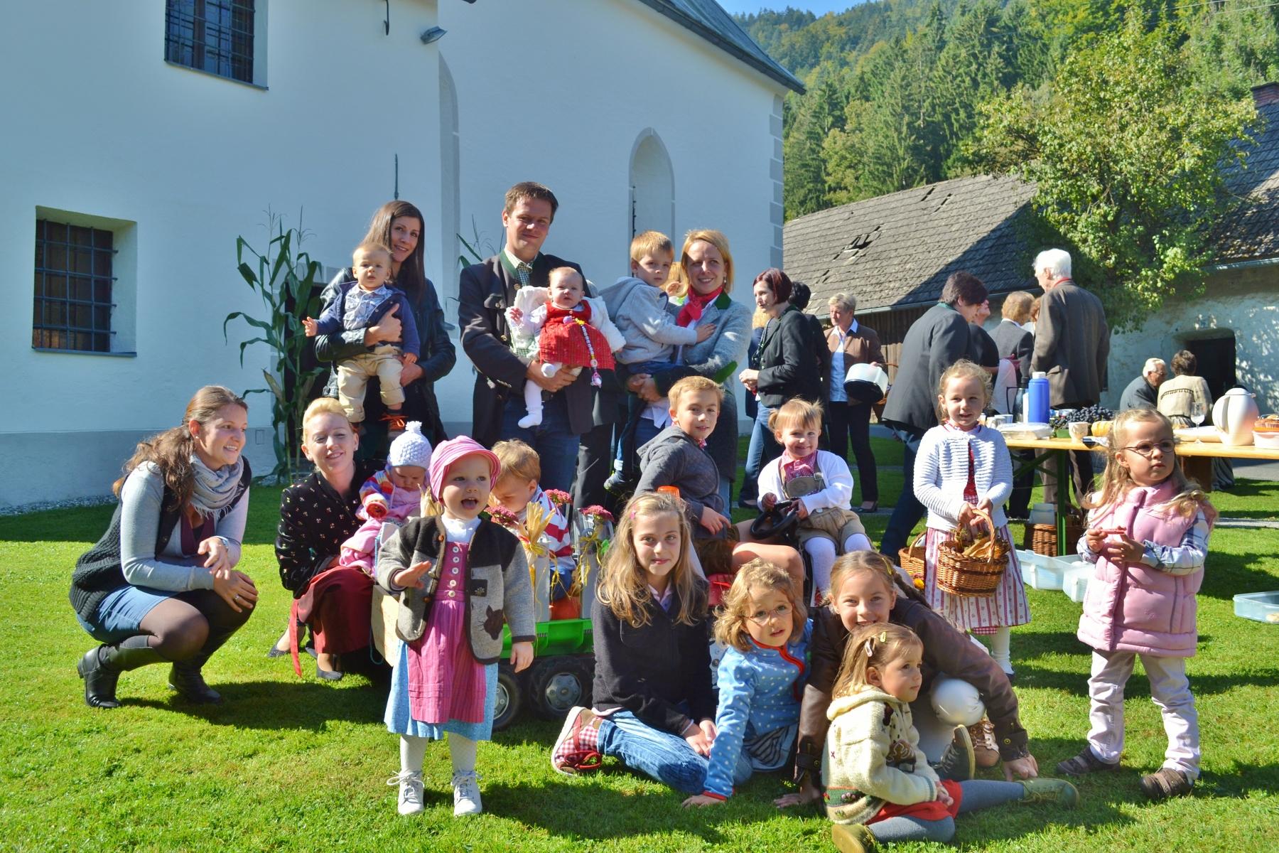 Erntedank in Bach ist auch ein Fest für Kinder