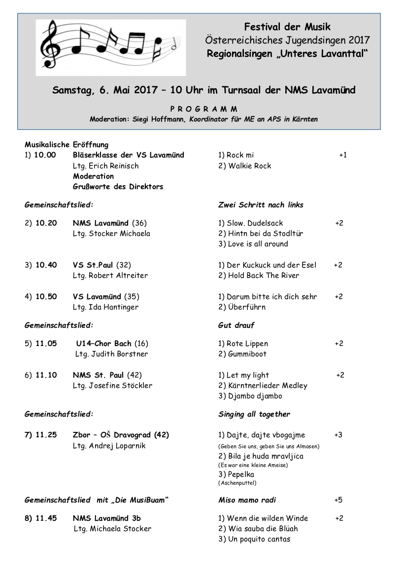 Festival der Musik 2017 - Programm