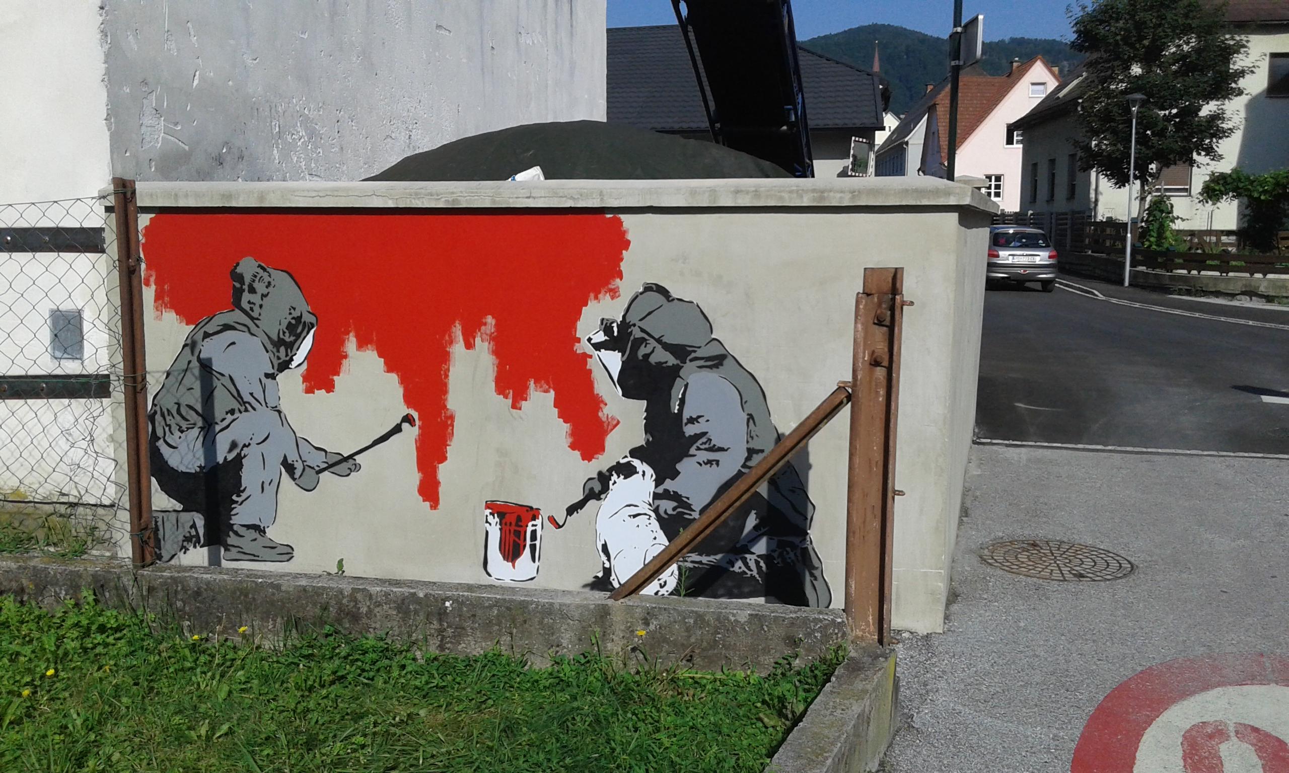 """Graffiti entschärft """"Bombe"""" in Koeflach"""
