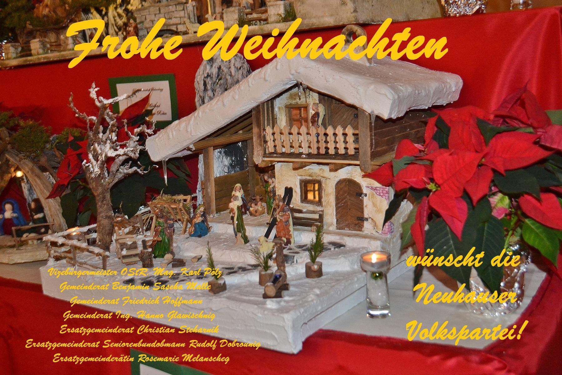 Frohe Weihnachten ÖVP Neuhaus 1
